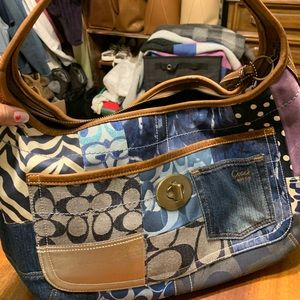 Coach patchwork handbag
